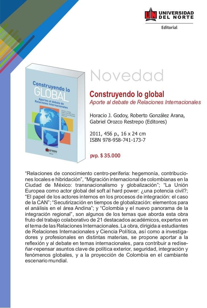 Novedad                             Construyendo lo global                             Aporte al debate de Relaciones Inte...
