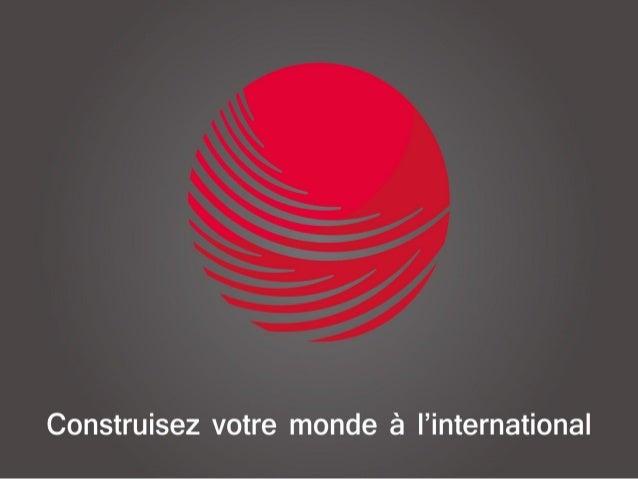 Consultancy and training services group: Construisez votre monde a l'international
