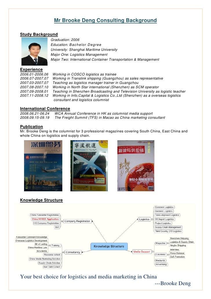 Mr Brooke Deng Consulting Background  Study Background                    Graduation: 2006         ...