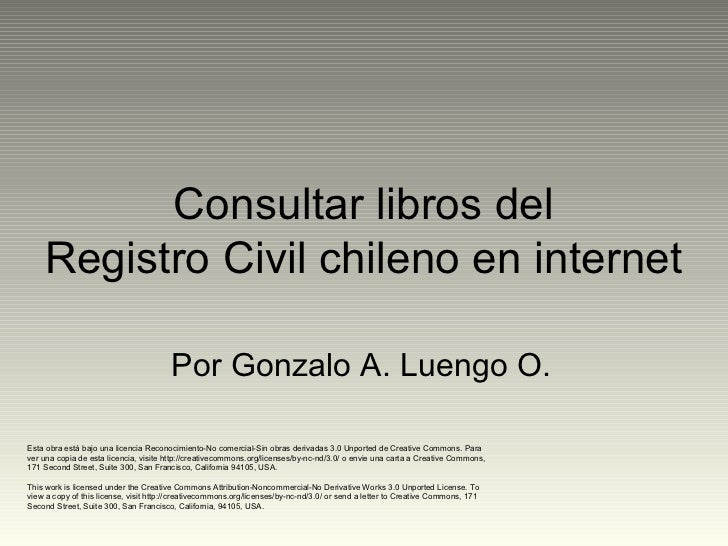 Consultar libros del Registro Civil chileno en internet