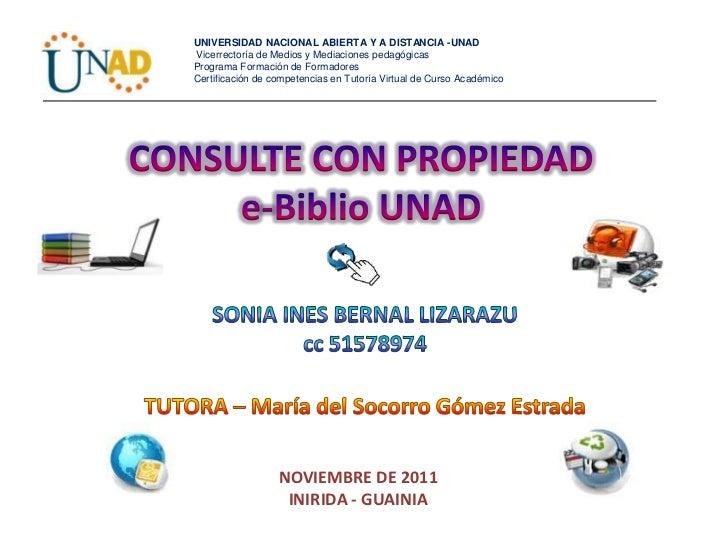 Consulte e biblio unad