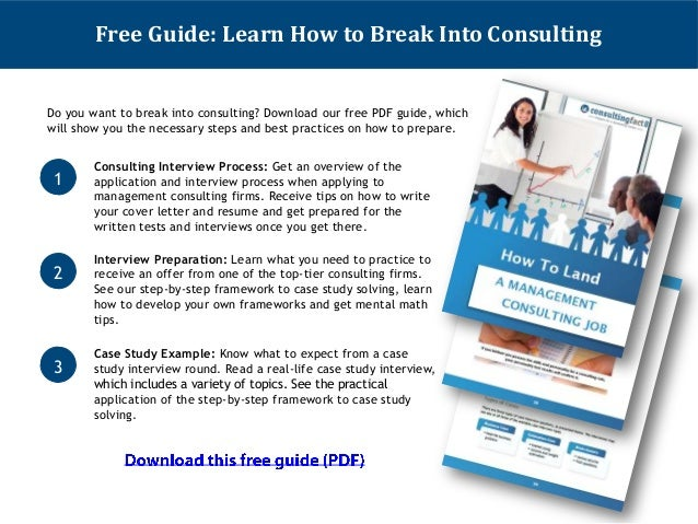 more free consulting career advice on www consultingfact com 9