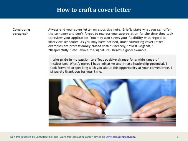 cover letter consulting firm