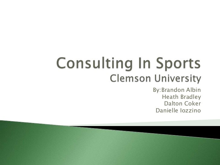 Consulting In Sports: Clemson University