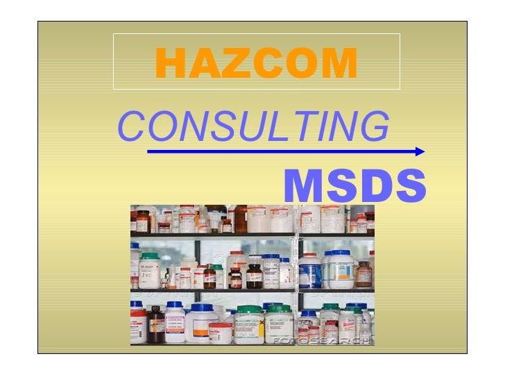 CONSULTING MSDS HAZCOM