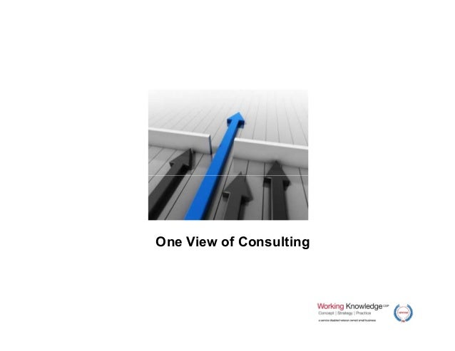 One View of Consulting