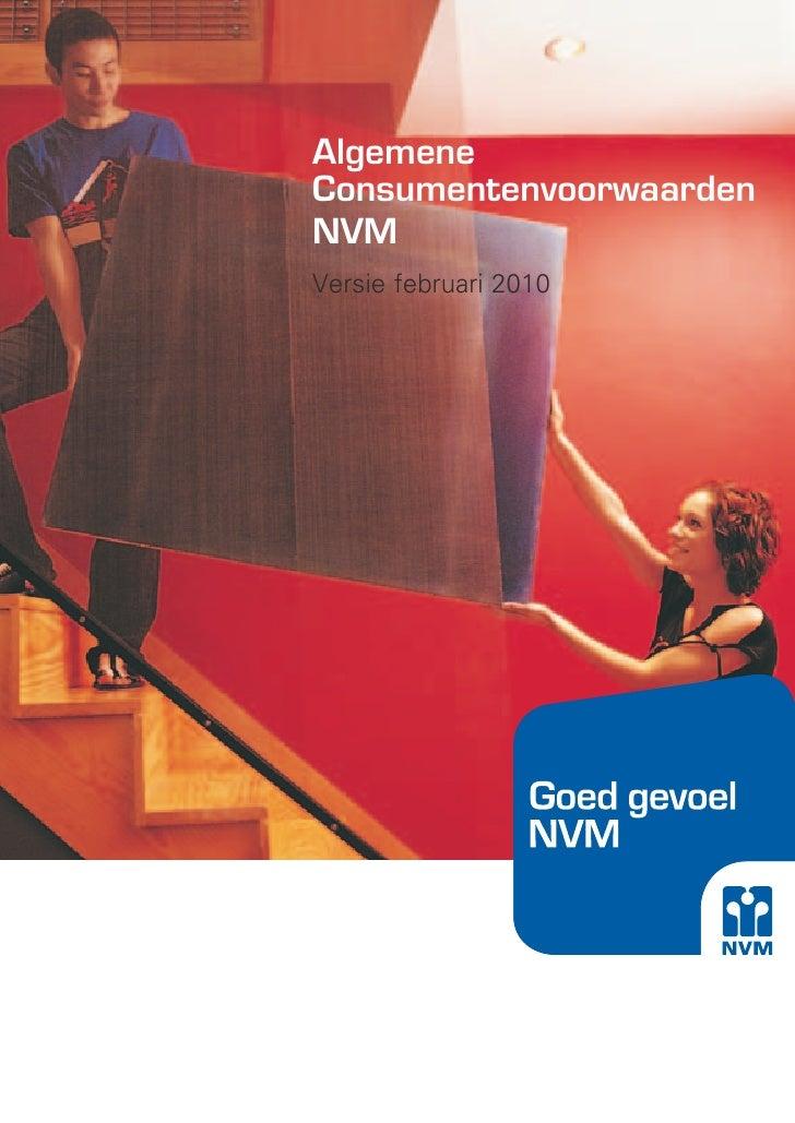 Algemene Consumentenvoorwaarden NVM Versie februari 2010