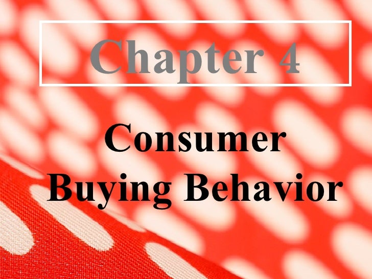 Consumer Buying Behavior 1