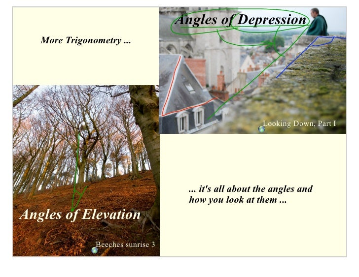 Angles of Depression    More Trigonometry ...                                                             Looking Down, Pa...