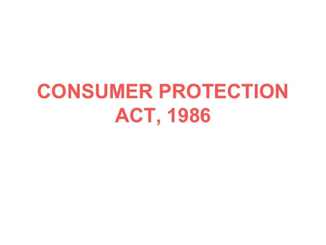 Consumer protection-act-86