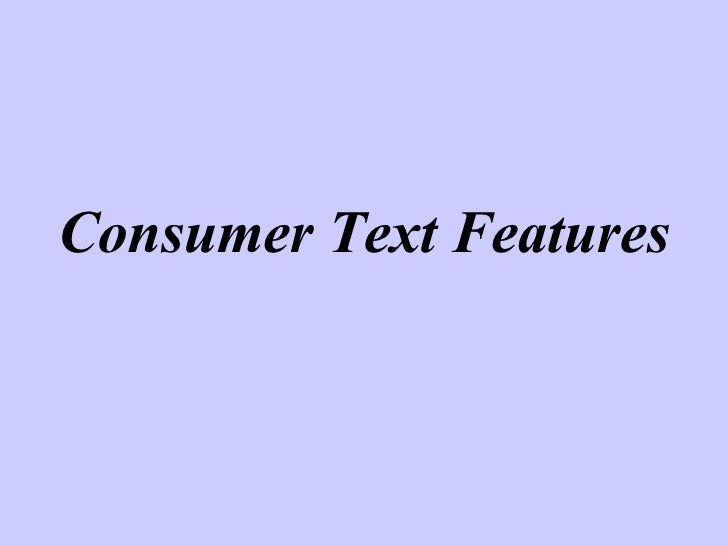 Consumer Text 08