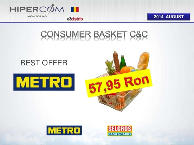 Consumer Basket Cash and Carry August 2014