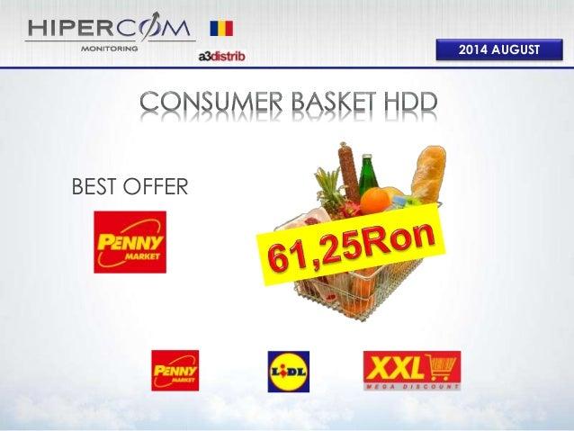Consumer Basket Hard Discount August 2014
