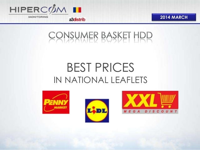 Consumer basket Hard Discount Mar 2014