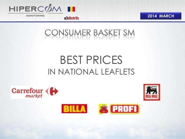 Consumer basket Supermarket Mar 2014