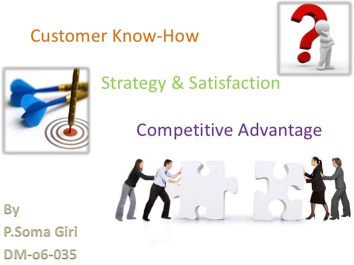 Customer Know-How              Strategy & Satisfaction                  Competitive AdvantageByP.Soma GiriDM-o6-035