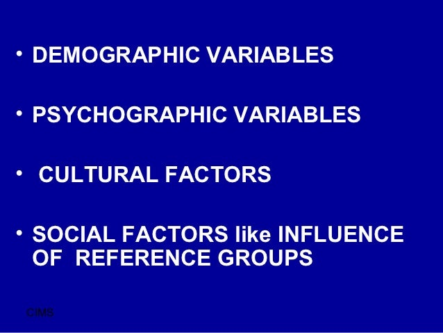 a comaprison of the psychographic and demographic factors in society The influence of consumers' cognitive and psychographic traits on perceived deception: a comparison between online and offline retailing contexts.
