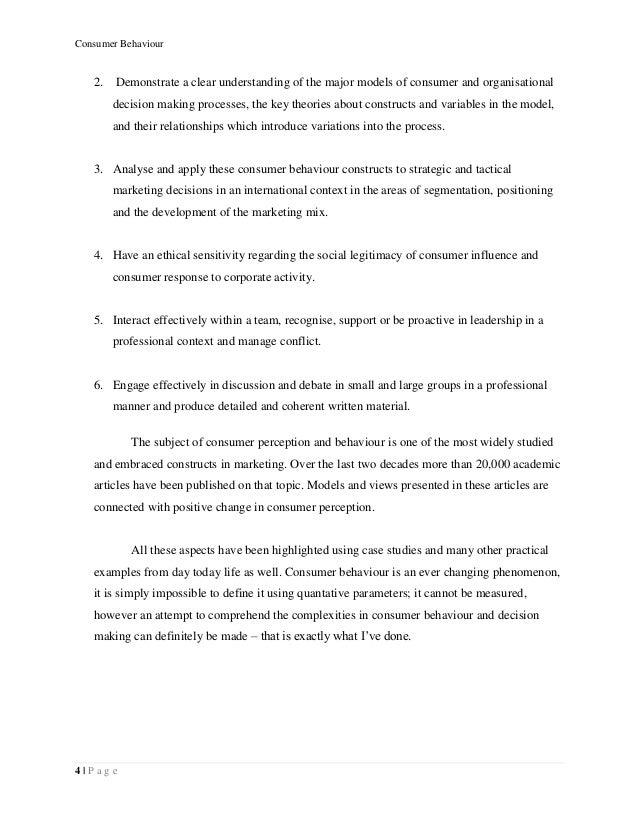 Theory Of Consumer Behavior Essay - image 10