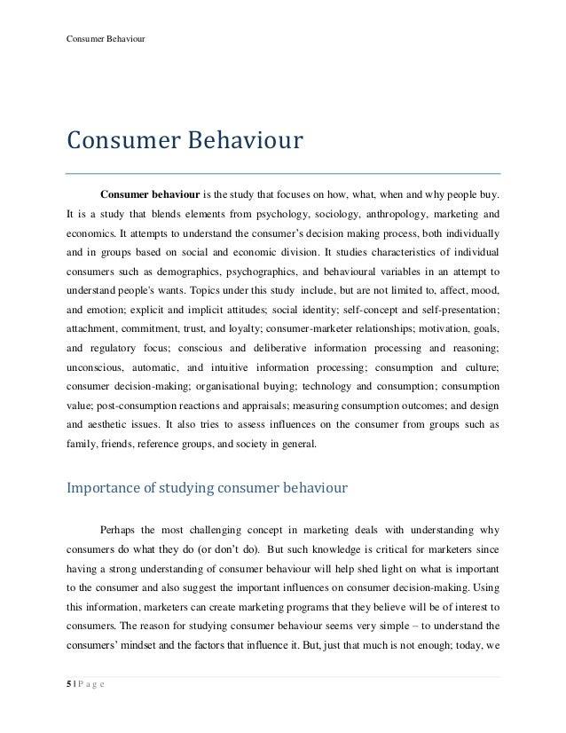 Write my consumer behavior research paper