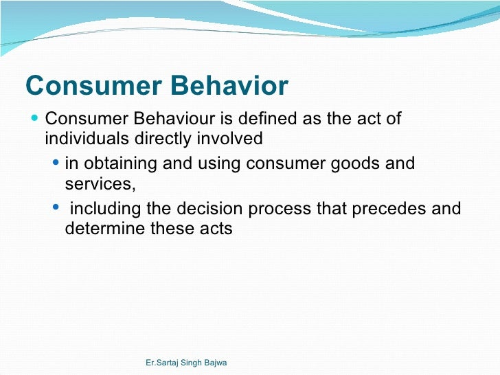 Consumer behavior model