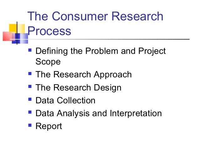 Research consumer behavior