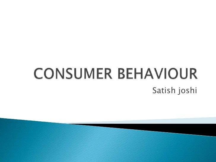 Consumer behaviour, ch 3