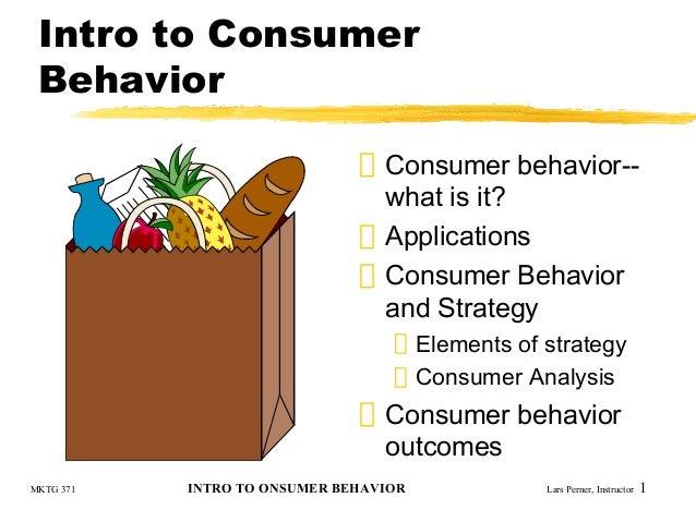 Consumer behaviour effect