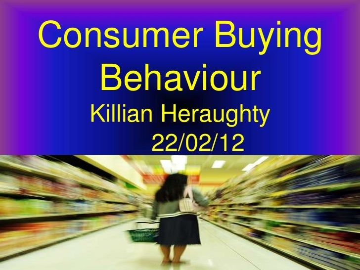 Literature Review on consumer buying behaviour