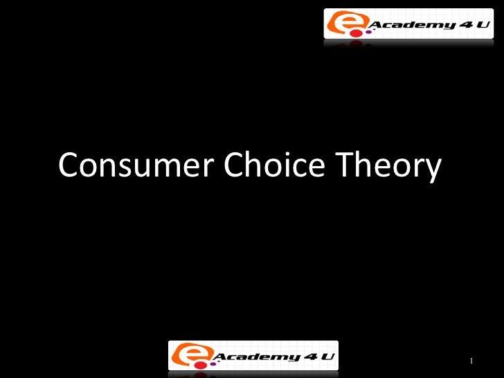 Consumer Choice Theory                         1