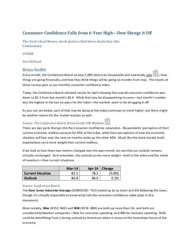 Consumer confidence apr 14