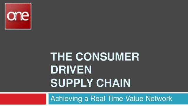 THE CONSUMER DRIVEN SUPPLY CHAIN Achieving a Real Time Value Network