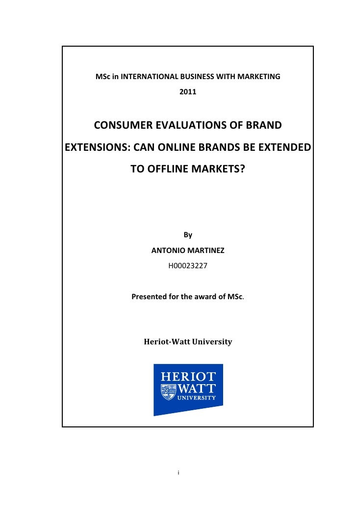 Consumer evaluation of brand extensions: can online brands be extended to offline products?