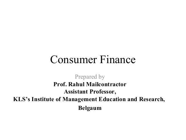 Consumer finance ppt