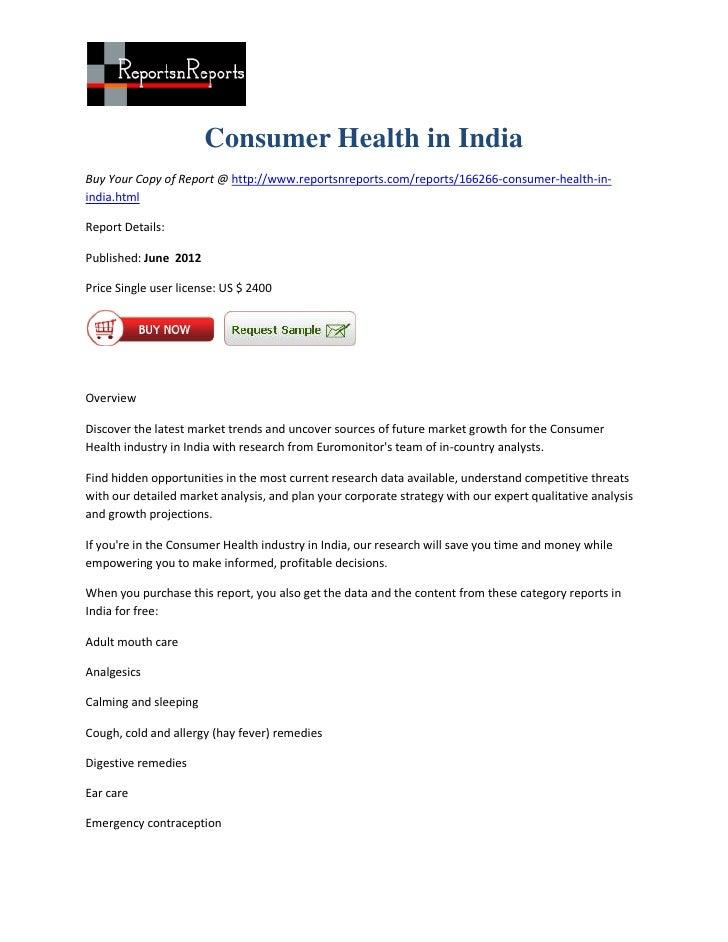 Consumer health in india