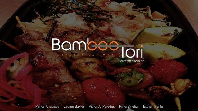 Consumer Insights Analysis_Bamboo Tori