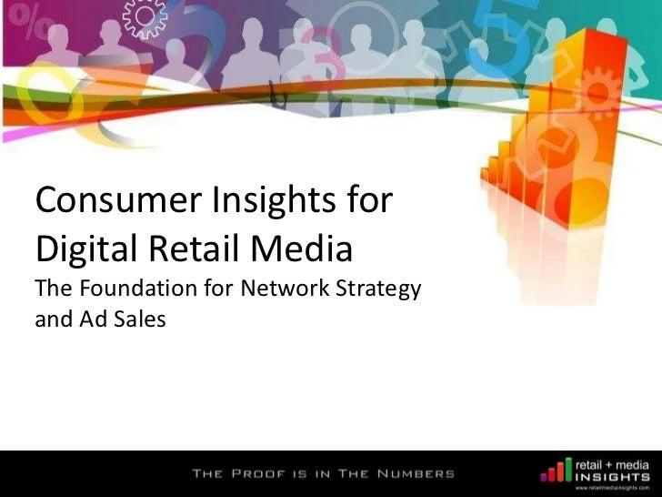 Retail Media Insights - Consumer Insights for Digital Retail Media