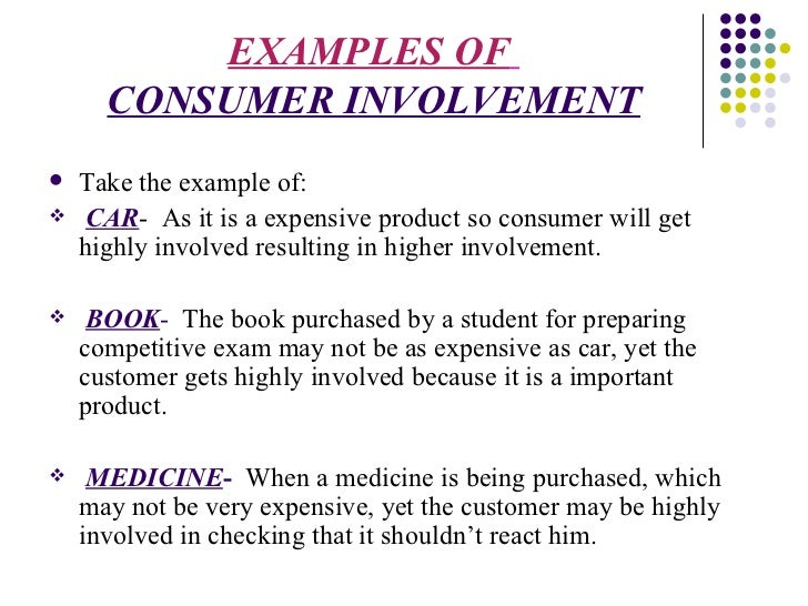 high and low involvement product Consumer behaviour in the purchase of high and low involvement essay sample consumer behaviour is defined as the behaviour that consumers display in seeking, purchasing, using, evaluating.