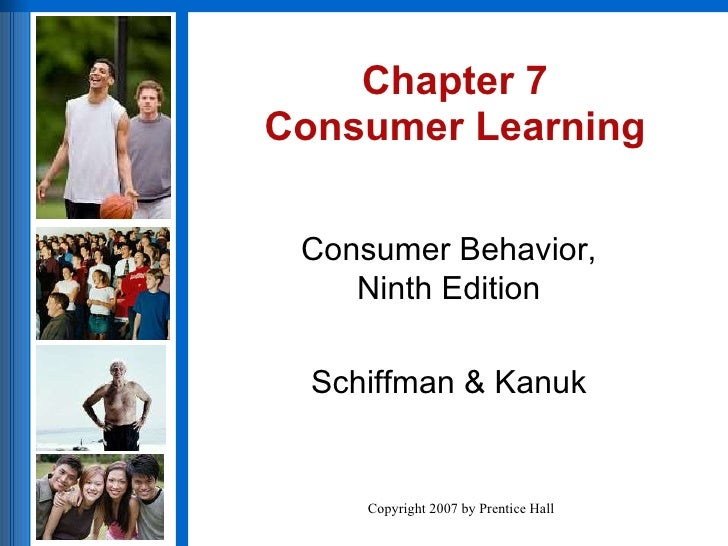 Chapter 7 Consumer Learning