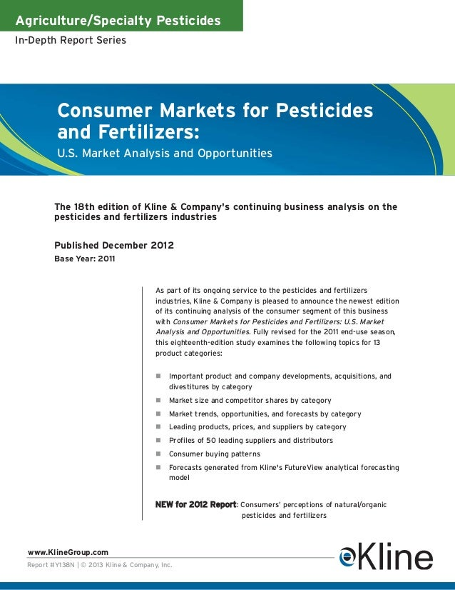 Agriculture/Specialty PesticidesIn-Depth Report Series           Consumer Markets for Pesticides           and Fertilizers...