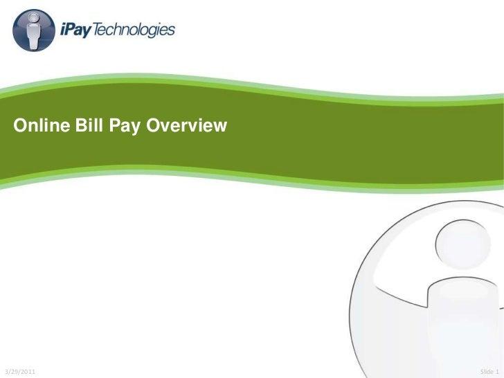 Consumer online bill pay