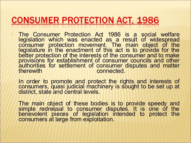 consumer protection act 1987 essay Essay writing guide learn why consumer protection is needed consumer protection is civil law/criminal law/both consumer.