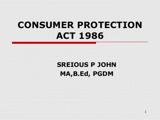 Consumerprotectionact1986 ........................