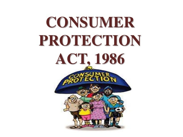 CONSUMERPROTECTION  ACT, 1986