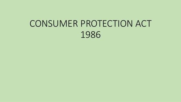 consumer protection act 1986 presentation pdf