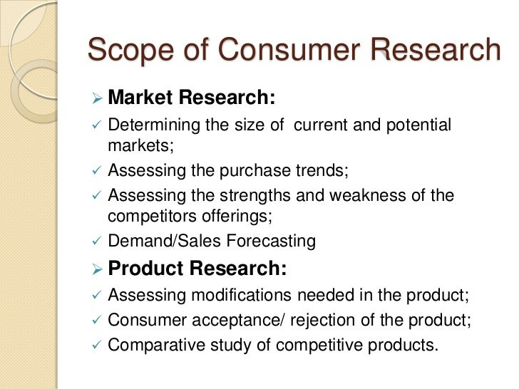 Research consumer behavior