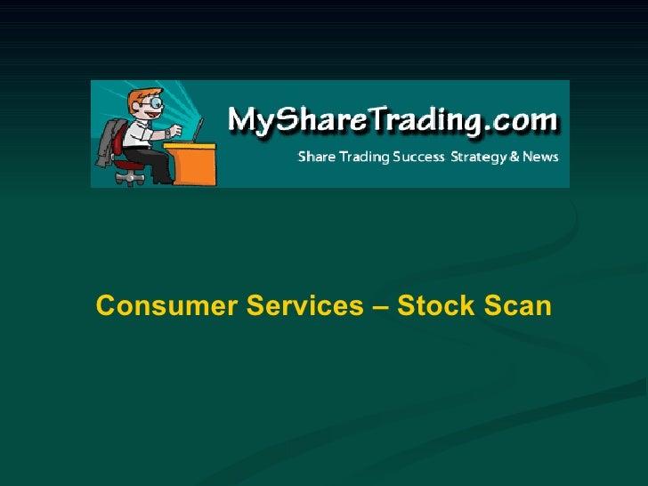 Consumer Services - Australian Stock Market Report