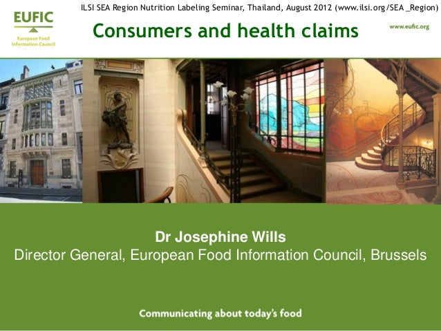 Consumers & Health Claims 2012