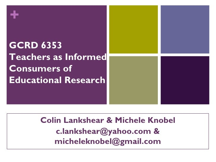 Teachers as Consumers of Educational Research