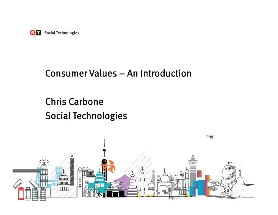 Consumer Values – An Introduction  Chris Carbone Social Technologies