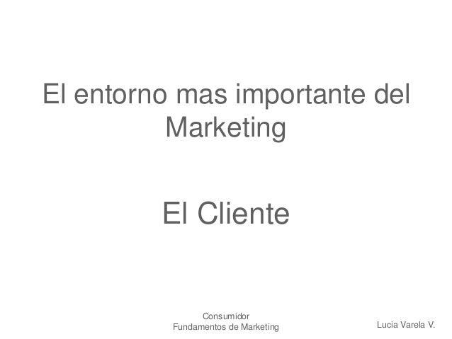 Consumidor Fundamentos de Marketing El entorno mas importante del Marketing El Cliente Lucia Varela V.